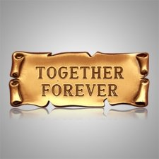Together Forever Goldtone Medallion Appliques